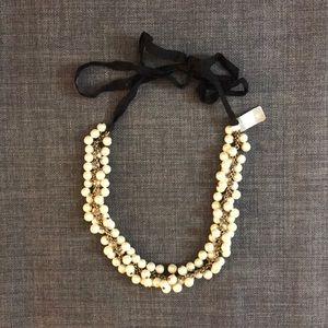 *NWT* JCrew Pearl Necklace with Ribbon